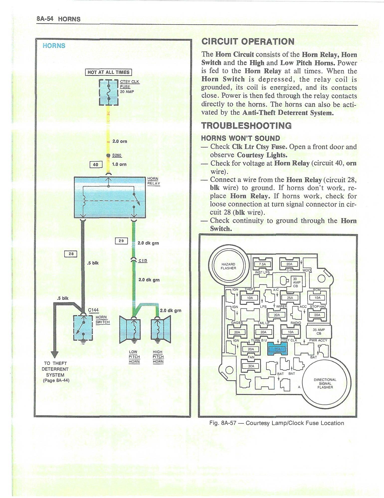 1980 Corvette Horn Wiring Diagram