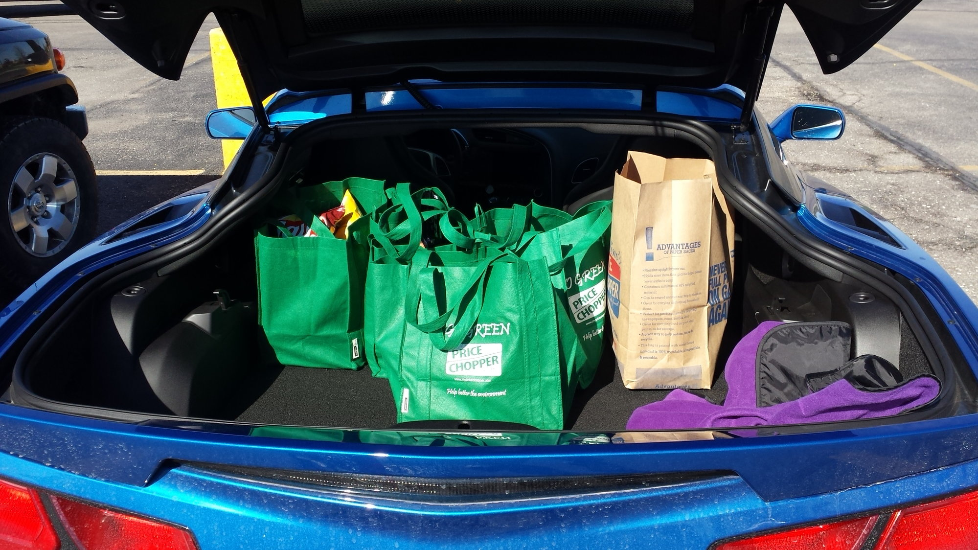 For those people who criticized us for getting a car that only goes fast,  did my weekly grocery shopping this morning! Bonus, going through twisty  roads ... 3c8d7903d4