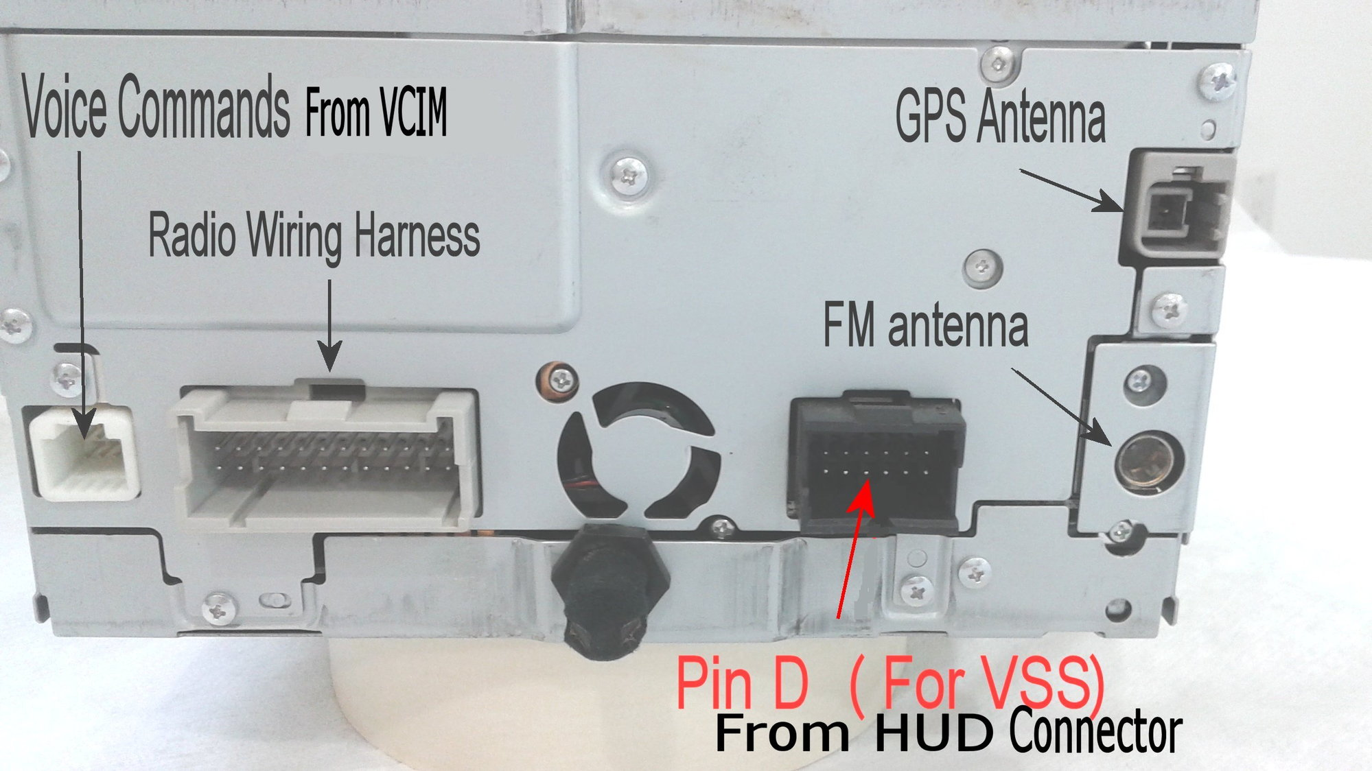 How Do You Install A Oem Navigation Unit In C6 With Bose Radio Onstar Wiring Harness The Voice Command Comes From Vcim Module And That Connector Should Also Be Tucked Back Of Surround Console