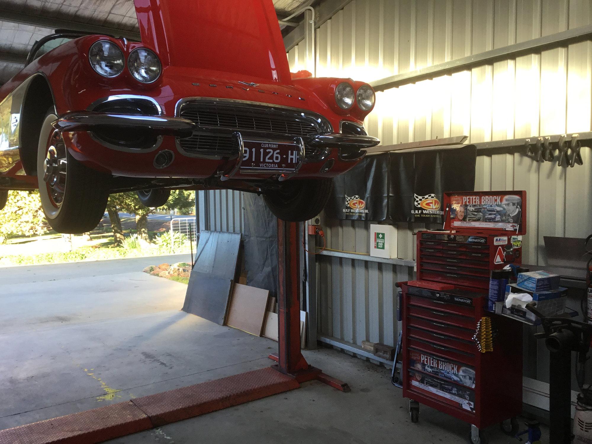 1961 Engine removal - CorvetteForum - Chevrolet Corvette Forum