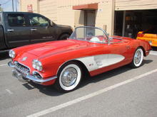 58 Corvette Installed Steeriods Power Rack and Pinion
