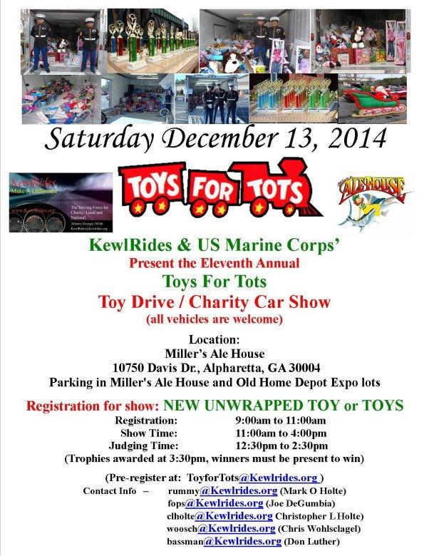 Toys For Tots Register For : Dec alpharetta ga kewlrides th annual usmc toys for