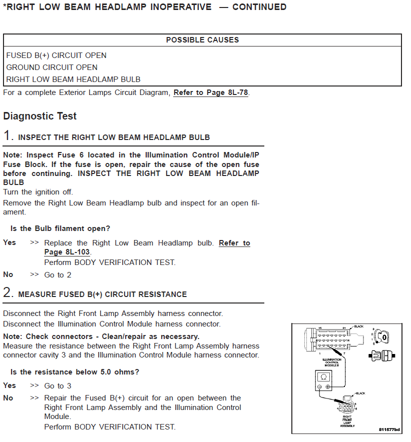 Chrysler Crossfire Fog Light Wiring Diagram