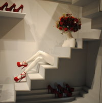 Red shoes and roses booth