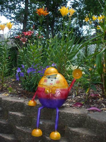 Humpty Dumpty in the perennial garden