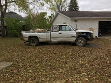 So a short summary.i found the 65 in a barn find. Had a 350 Chevy for it.Got a gas saving idea.ill  Put a Cummings in it.had 2.Sold 1 before idea.Bought a wreaked one from OKLAHOMA that was wrecked in iowa where i live.I put motor get rag tranny the air and power steering from dodge.Shoved all that sh.. in the truck.Which was alot more work shouldn't say alot but it was alot of fun and challenging.Used the dodge cab mounts and made motor mounts out of them.drive shaft made.walla here it is.