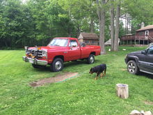 """My daily driver 1989 W250 all stock besides 4"""" straight pipe"""