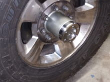 Just need a four and a quarter inch hole saw for the hubcaps and I should be finished