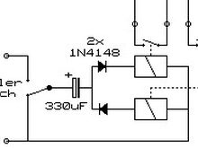 A simple scheme to get two different pulses out of a state change switch. Usable for an engine brake controller