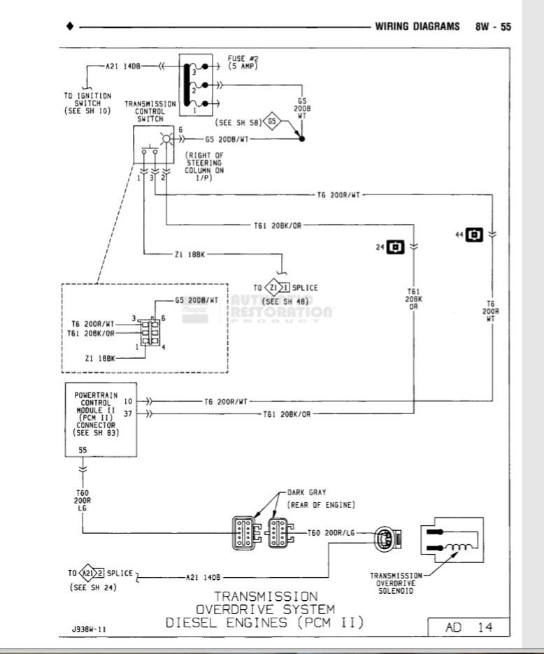 Overdrive Wiring Diagram  - Dodge Diesel