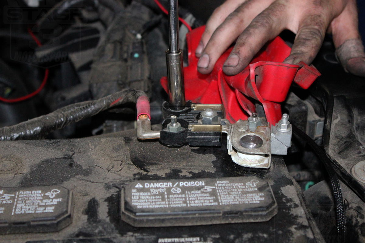 Remove Car Battery Clamp