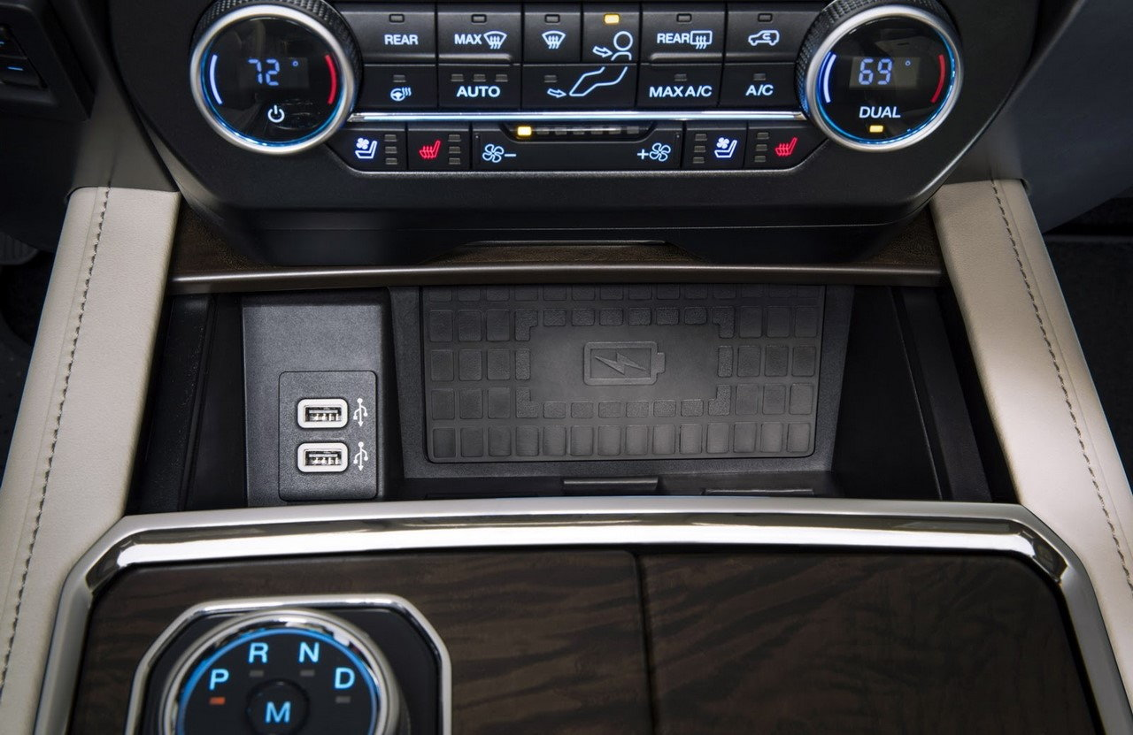 Add wireless charging to truck from 2018 Expedition parts? - Ford