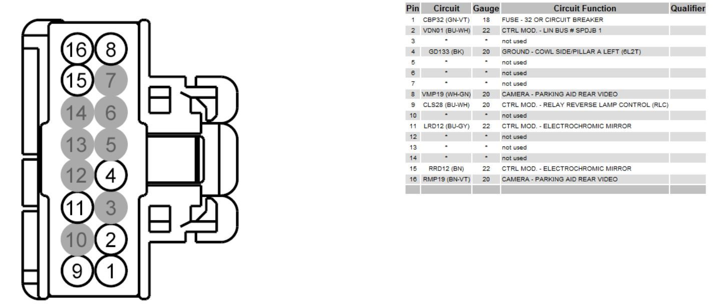 Wiring Diagram Of Rear View Mirror Plug  - Ford F150 Forum