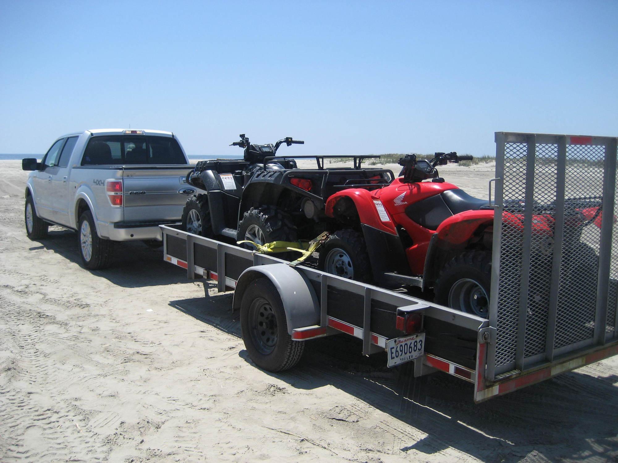 Heavy polaris 850 and a honda rancher 420