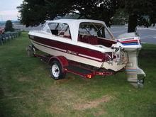 1977 MFG tri-hull boat.