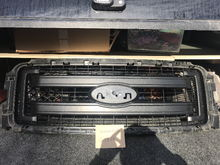 FX4 black textured grille center section