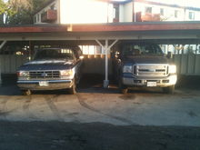 Both my trucks, before I gave away the 91