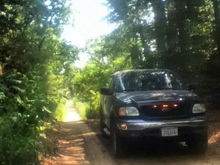 a bad** dirtroad with 60 foot walls on each side and trees sticking out of them,pic doesnt do justice. but its bada**