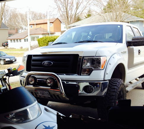 Bull bar installed and grille dipped
