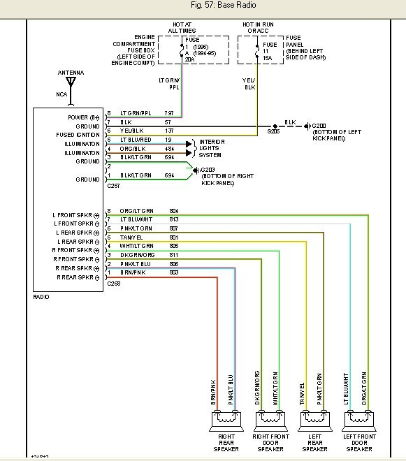 Radio wiring diagram - Ford F150 Forum - Community of Ford Truck Fans 94 f150 radio wiring diagram Ford F150 Forum