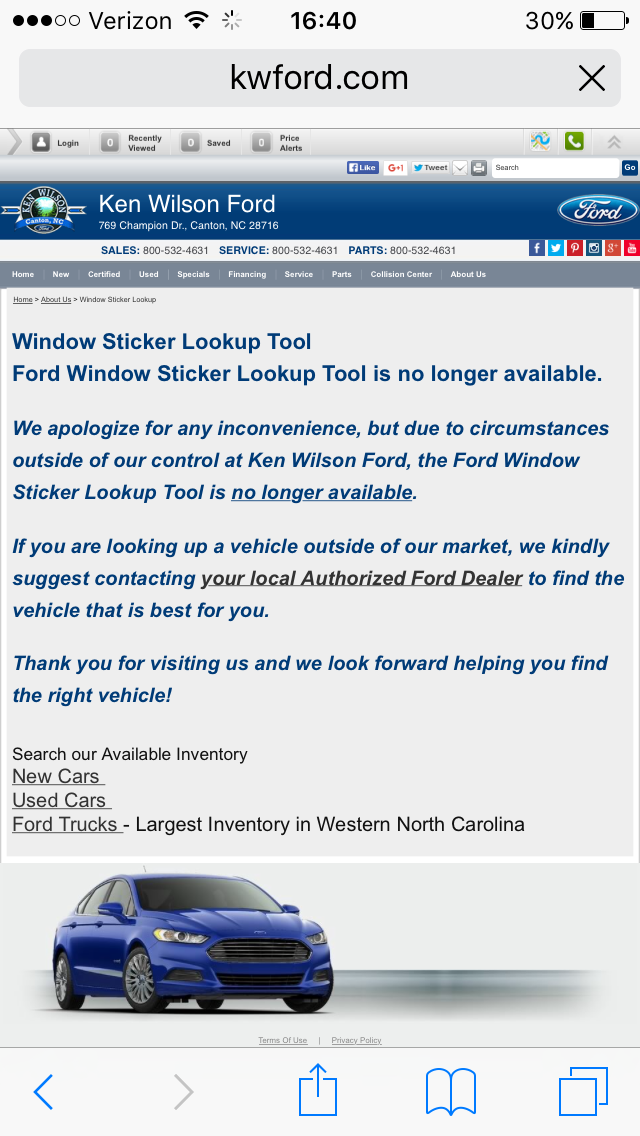 no more window stickers? - Ford F150 Forum - Community of