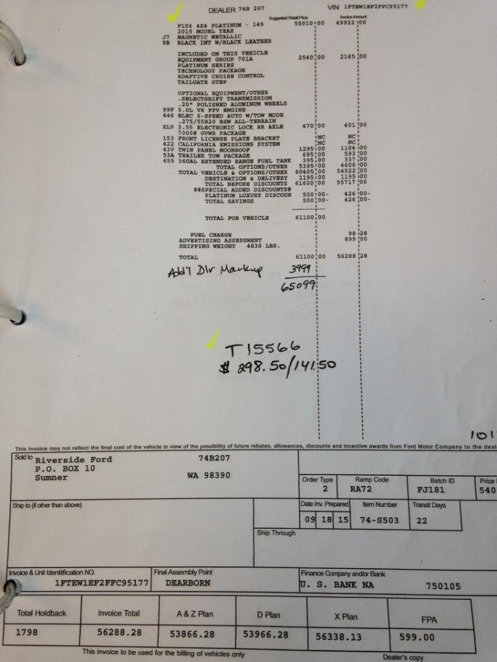 Ford F150 Invoice. Ford F-150 Svt Raptor 2015 Ford F 150 Interior ...