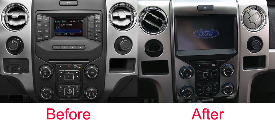2015 F 150 Possible To Upgrade Center Screen Ford F150