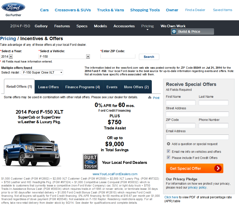 Wow....BIG advertised discounts on 2014 XLT's! - Ford F150 ...