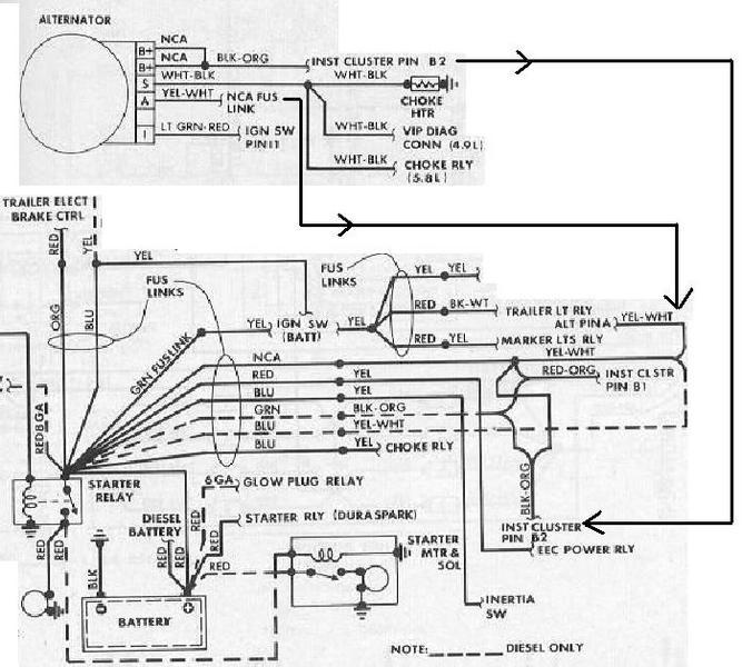 1986 f150 alternator problem help! f150online forums on 1983 Ford Pickup Wiring Diagrams for 1986 ford f 150 ignition wiring #6 at Ford F-150 Wheels