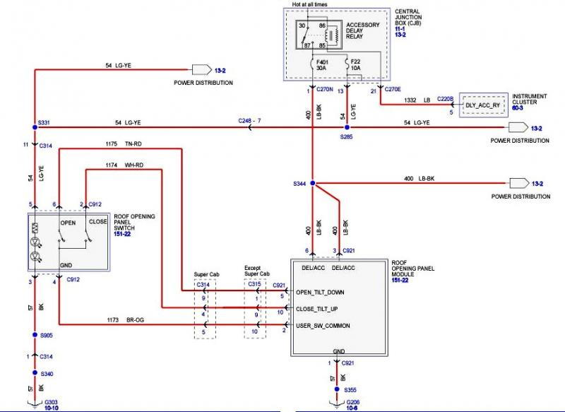 22r wiring diagram need 04 fx4 sunroof schematic f150online forums