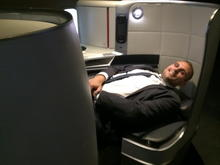 """Business - Myself in the seat: 6""""2 tall and 220lbs!"""