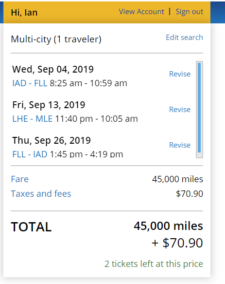 Award booking or change questions / issues / routing