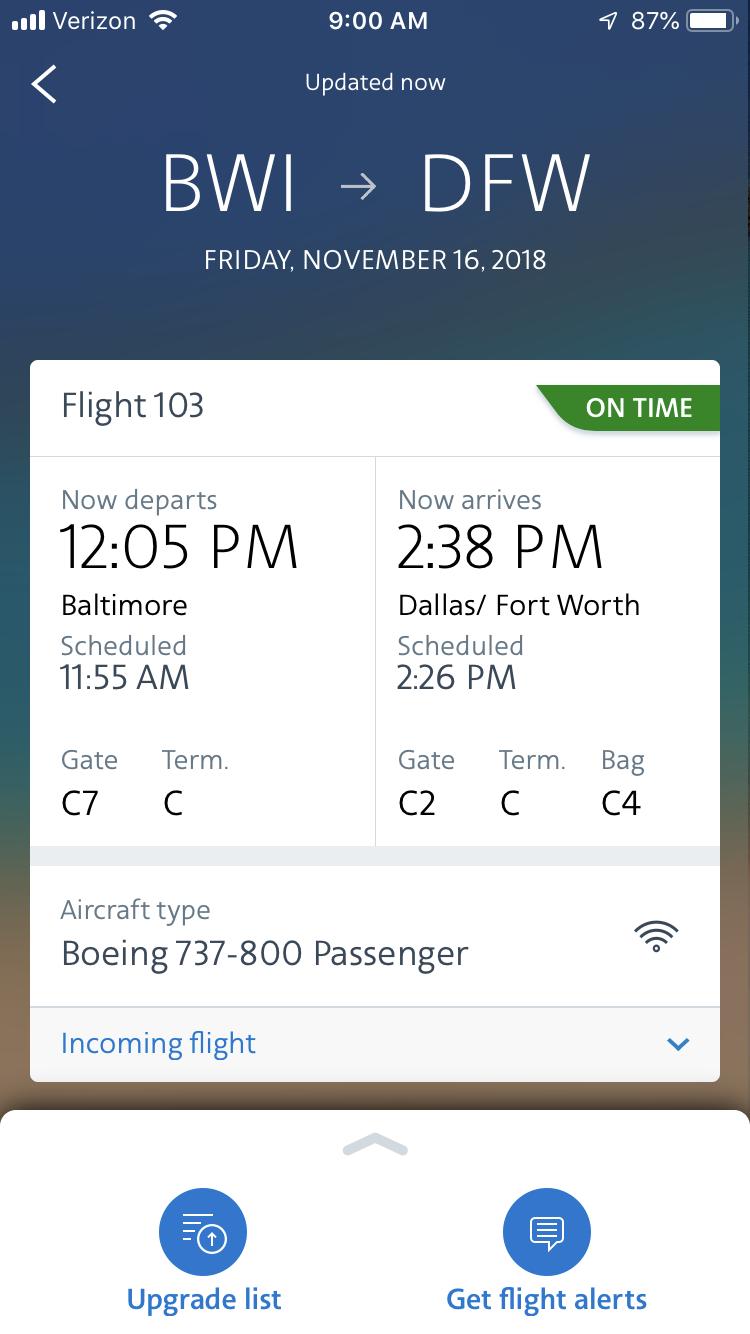 Flight Status Quot On Time Quot But Really Isn T Flyertalk