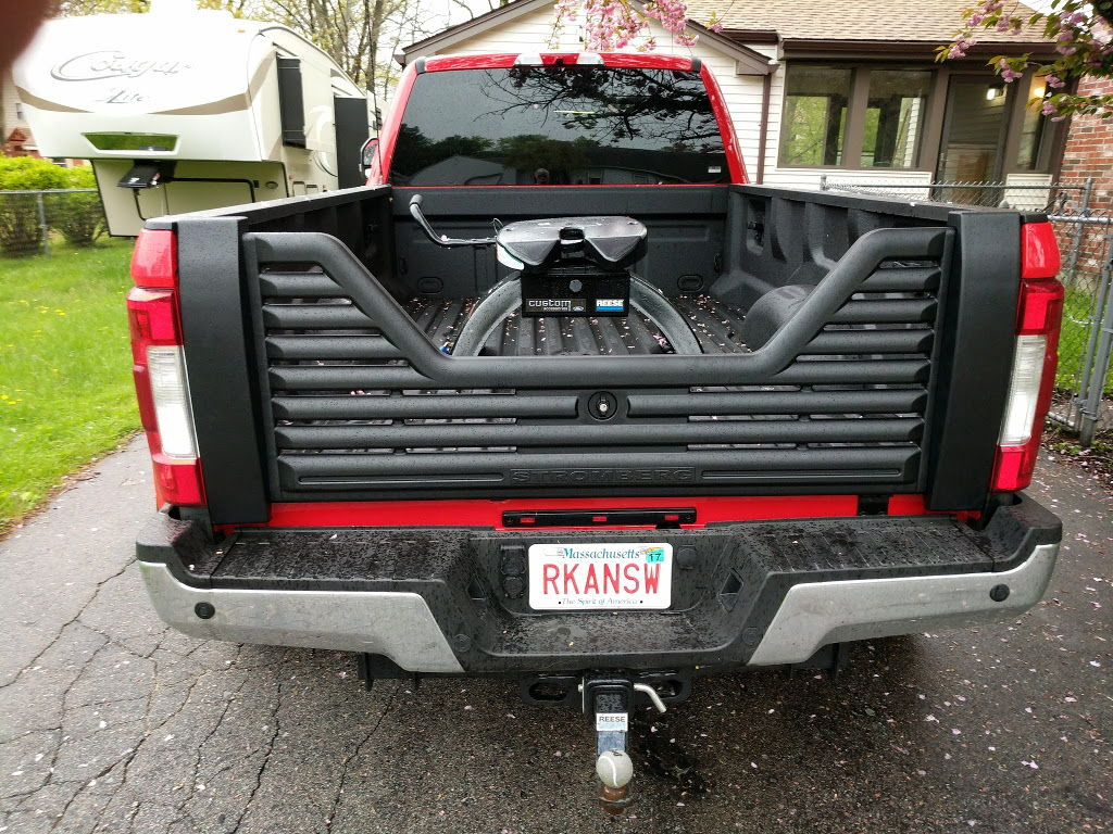 The screws on the bottom are very hard to put in with the tailgate on but you need to have it on to adjust the fit