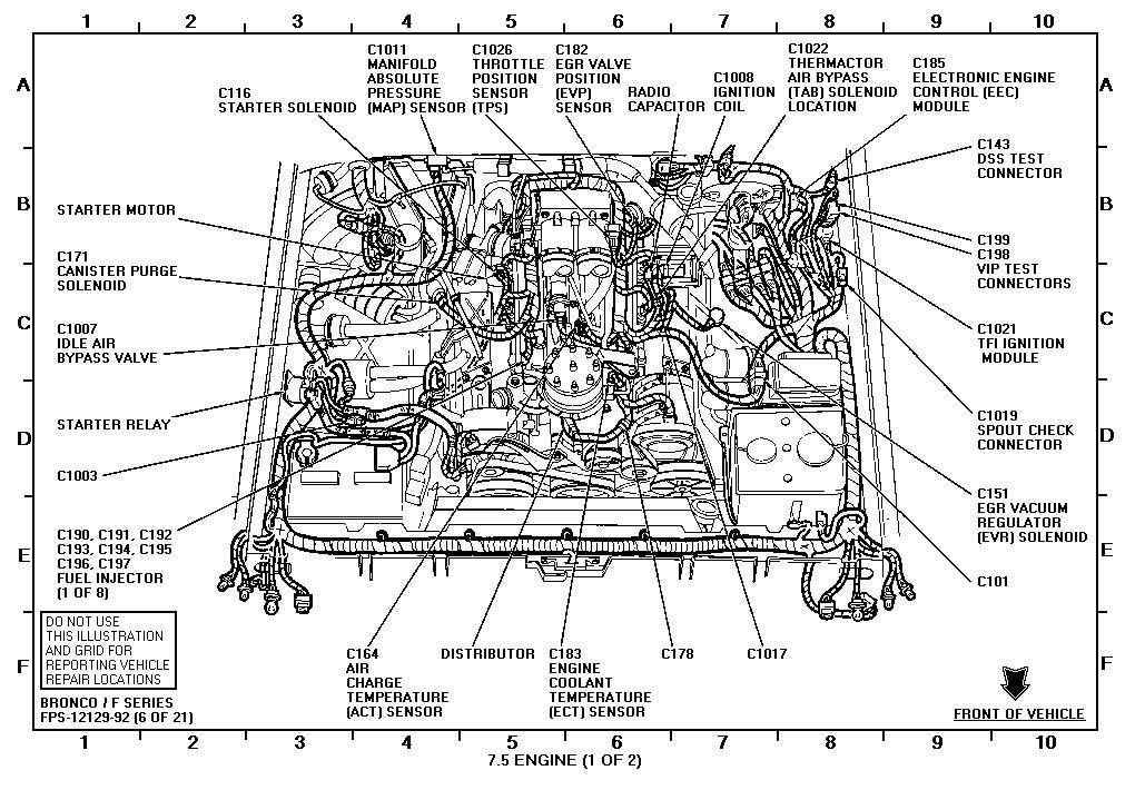 1986 ford 460 distributor diagram