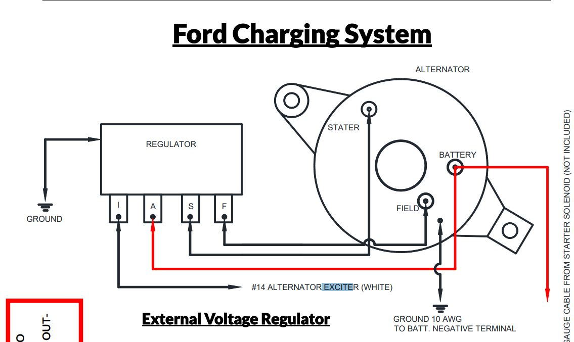 Ford Alternator And An Ext Voltage Regulator Install