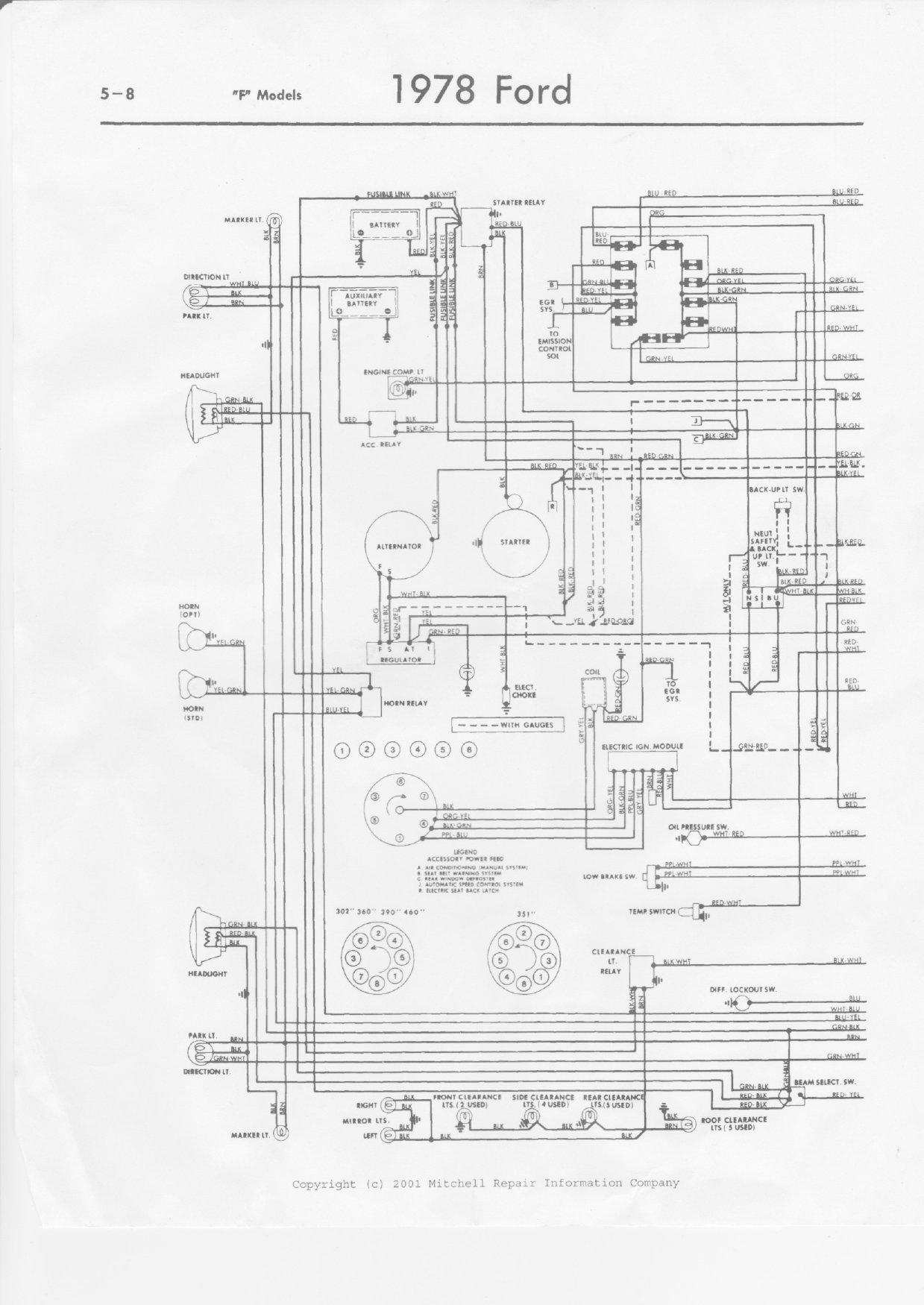 1978 Headlight Wiring Diagram