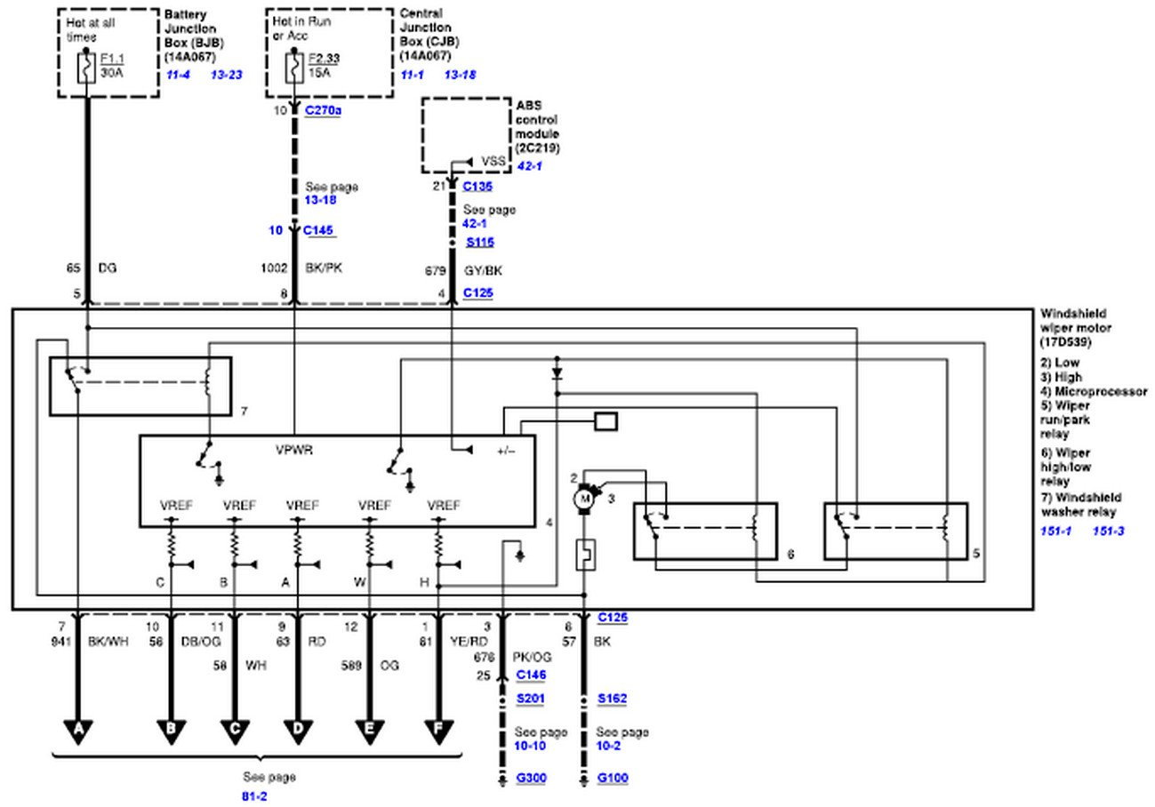 Wiper Motor Wiring Diagram For A 2008-2010