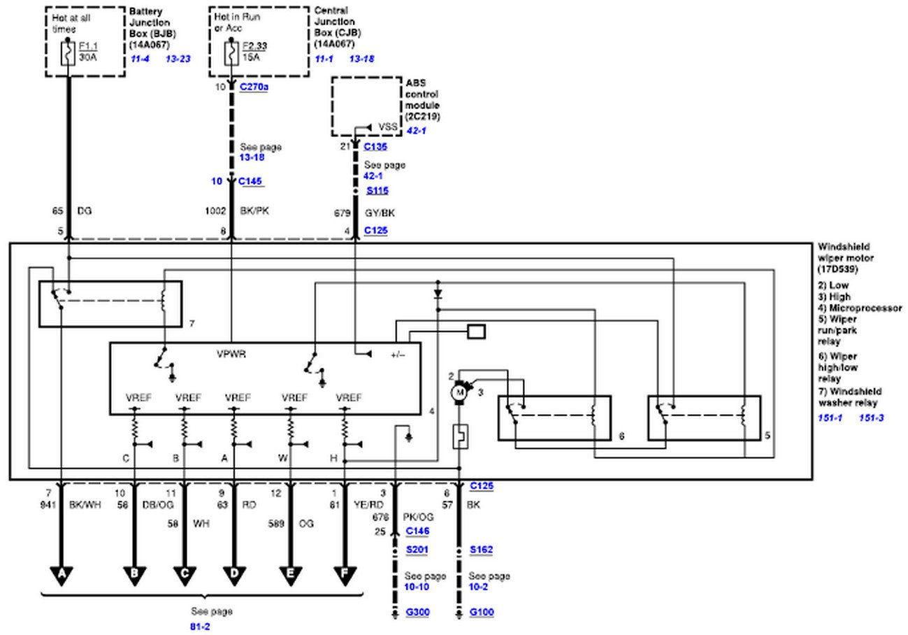 wiper motor wiring diagram for a 2008 2010 ford truck. Black Bedroom Furniture Sets. Home Design Ideas
