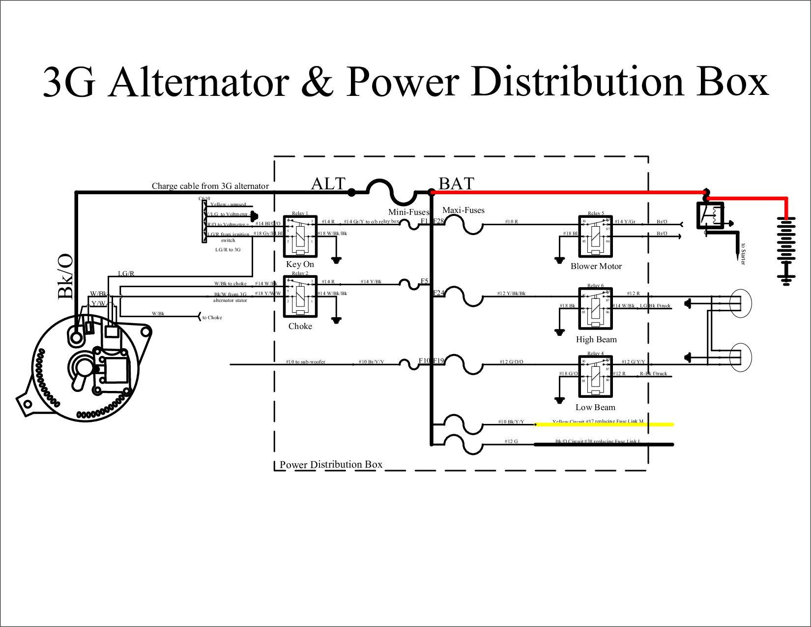 Ford F350 Alternator Wiring Example Electrical Diagram 1988 Sel Engine Harness 7 3 Wire
