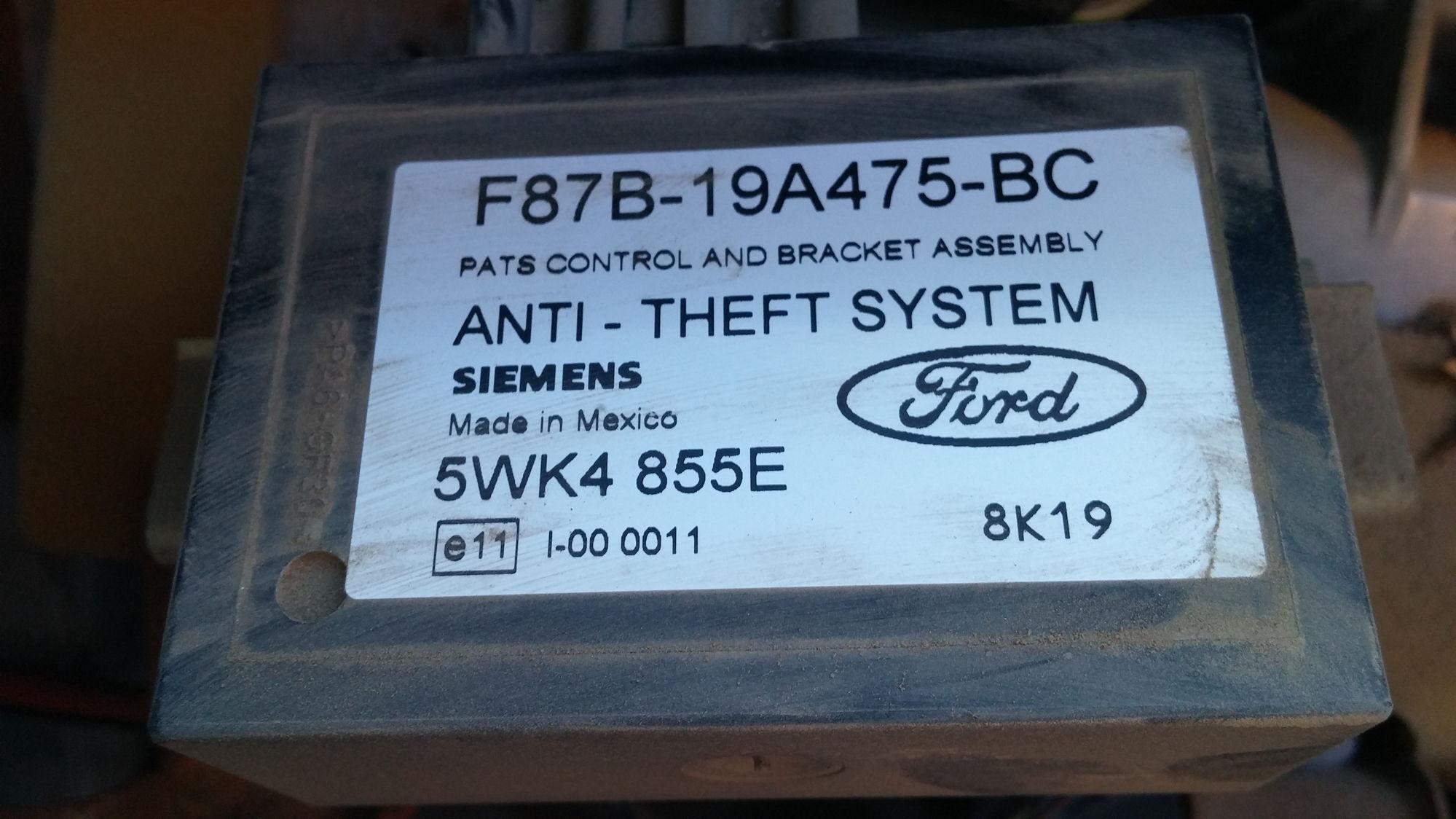 1361931 1998 Ford Ranger Oem Alarm System Instalation