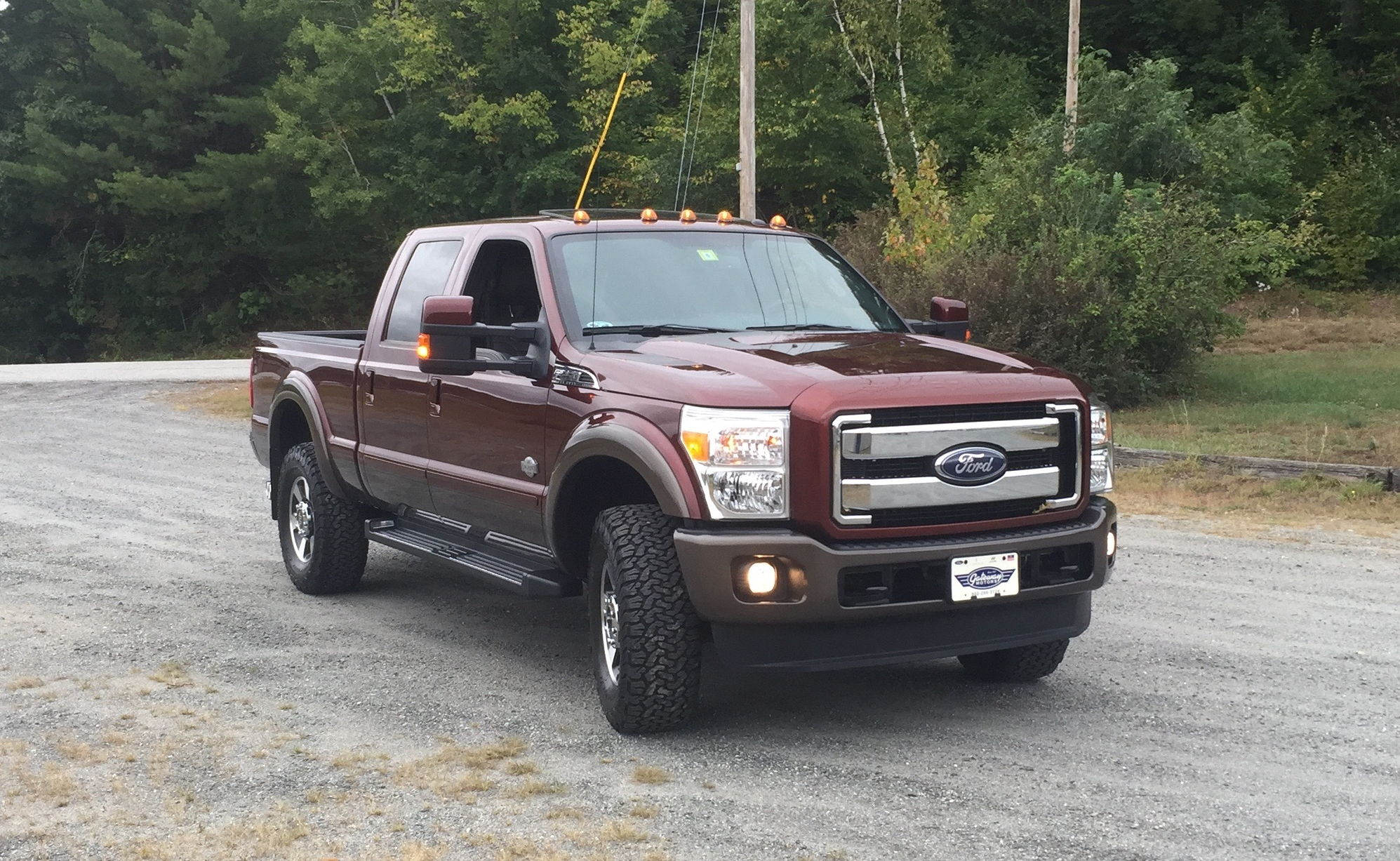 buyers of used trucks with oversize tires beware and also be aware service intervals may need to be done sooner since the miles will be slightly off