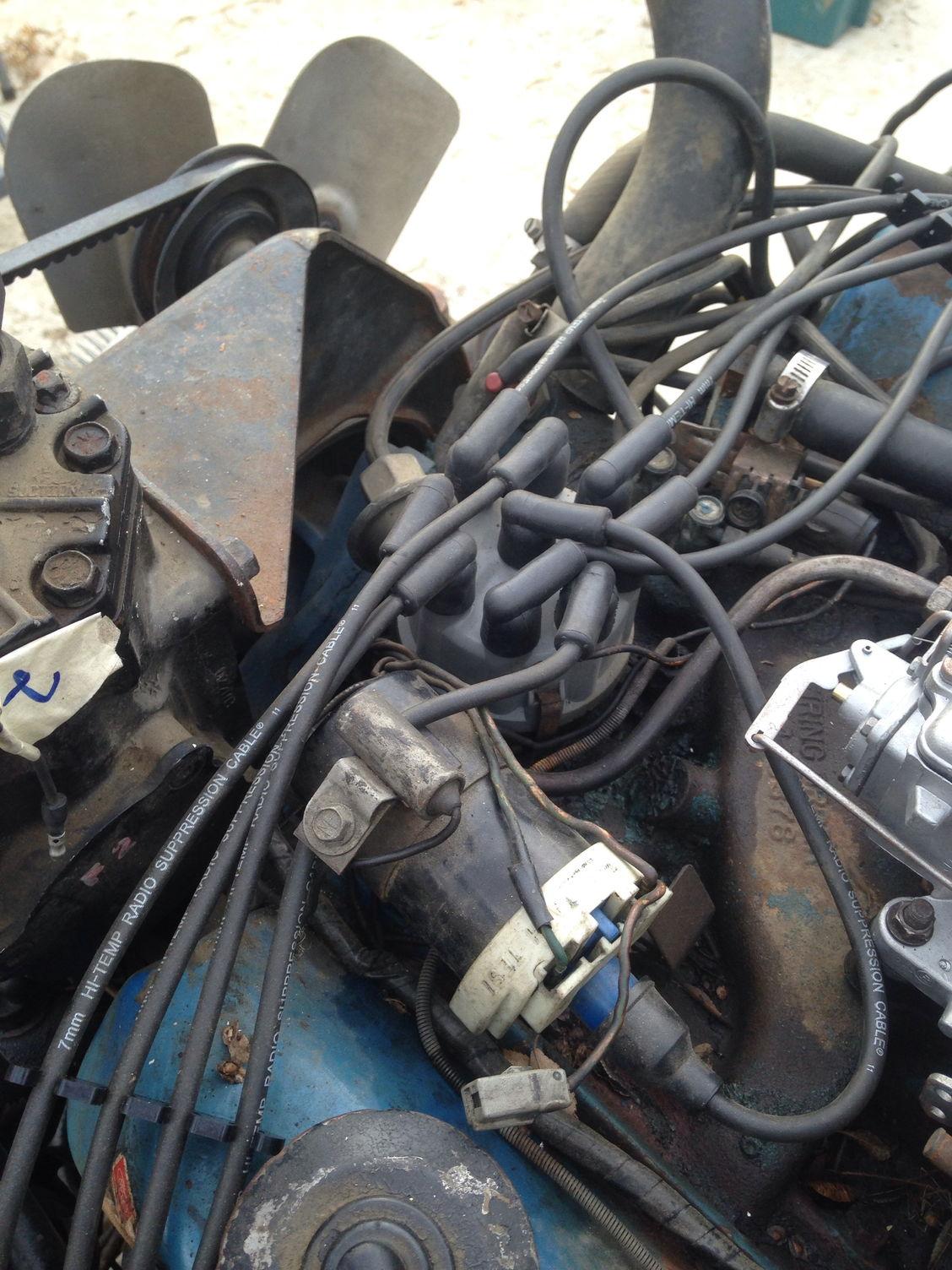 simplify engine bay 1975 f250 w  360 ford truck