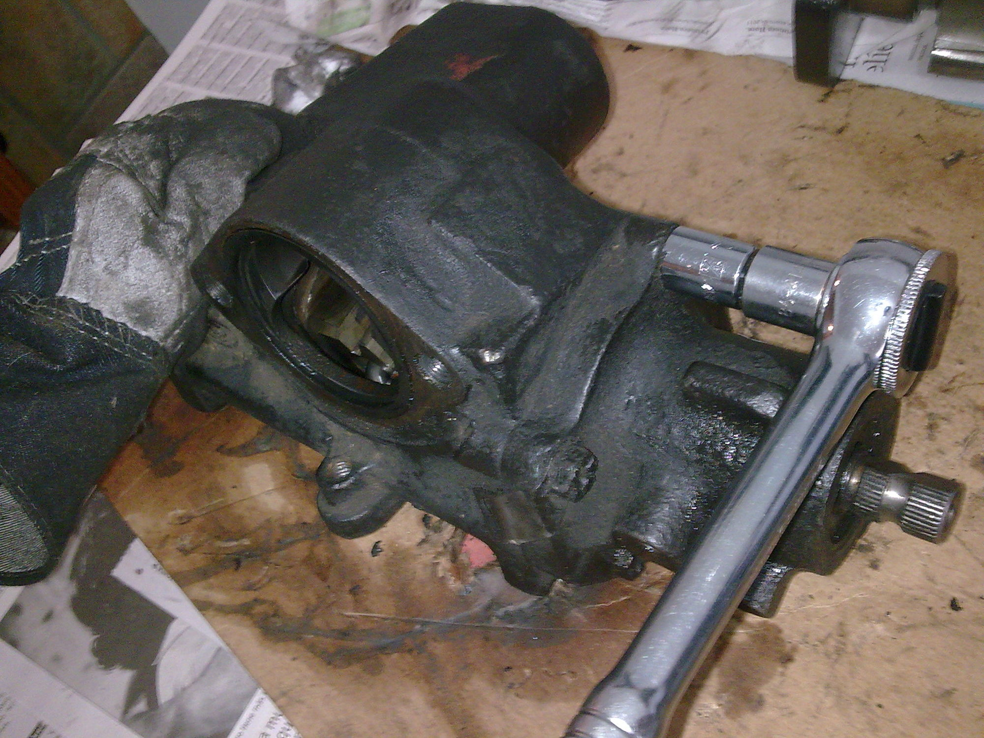 Ford 87 96 f 150 bronco steering box rebuild ford truck enthusiasts forums