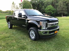Great looking trucks.  Here's my 2018 F350.  No mods yet, Just got her.