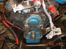 I got the water pump off. I have a high flow model as a replacement.