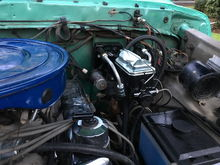 """Hydroboost off a 2000 f350. I used my 1978 master cylinder. There is a 2"""" spacer between my firewall and the booster. I wish I had built a 1 1/2"""" or 1 3/4"""" spacer. My pedal sits a little low currently. I will fuss with pedal to get the right pedal height when a pull the brake / clutch assembly to get ready for the hydraulic clutch / zf5 combo."""
