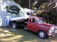I used my truck to haul and hang a sign for a family friend at their mountain hunting lodge, September 2013.