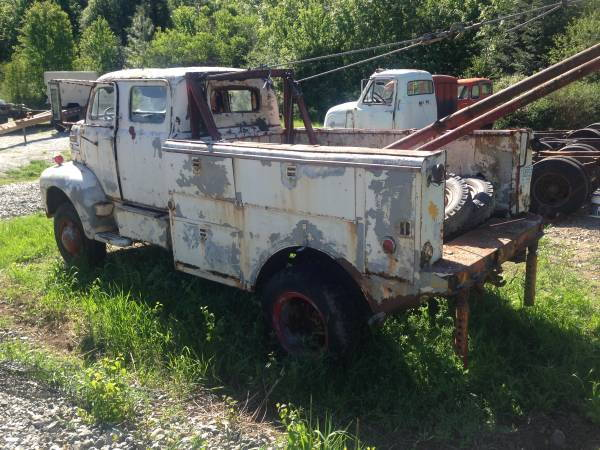 1949 Ford F5 COE Cabover 4x4 CrewCab Boom Truck - Ford ...