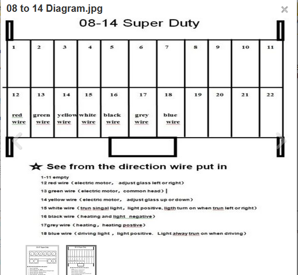 2012 super duty tow mirrors wiring diagram 2008 f250